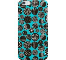 Black on blue. iPhone Case/Skin