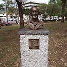 Bronze Bust - Barry Thornton - Bicentennial Park by Joe Hupp