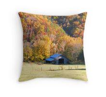 Barn and Fall Colors at Boxley Valley, Arkansas 2011 Throw Pillow