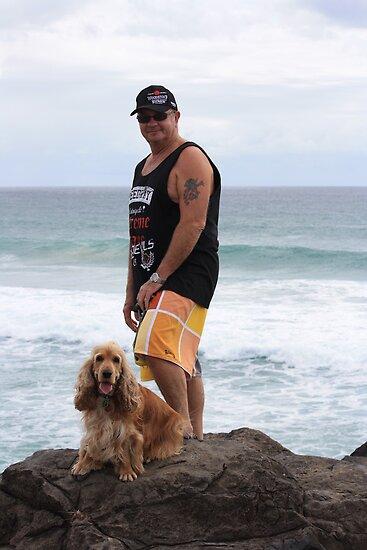 An Aussie Bloke & His Companion Dog by aussiebushstick