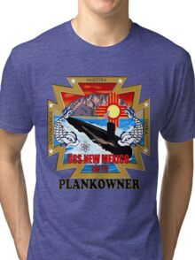 SSN-779 USS New Mexico Logo Plank Owner Tri-blend T-Shirt