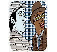 The finest duo since Holmes and Watson themselves. Data and Geordie. BFF'S forever! Photographic Print