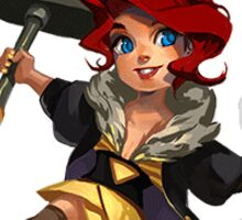 Transistor (Red) Sticker Sticker
