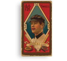Benjamin K Edwards Collection Harold W Chase New York Yankees baseball card portrait Canvas Print