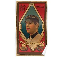 Benjamin K Edwards Collection Harold W Chase New York Yankees baseball card portrait Poster