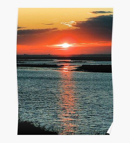 Sunset On The Reserve Poster