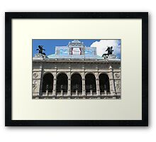 Arches, Vienna State Opera House Framed Print
