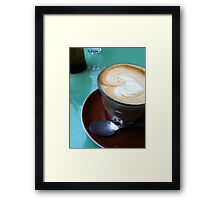 Love Latte Framed Print