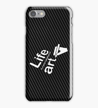 Art v Life - Carbon Fibre Finish iPhone Case/Skin