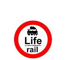 Rail v Life - White by Ron Marton