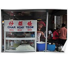 Red hair net Hawker Poster