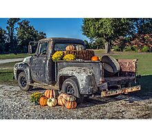 '56 Ford F100: Autumn Photographic Print