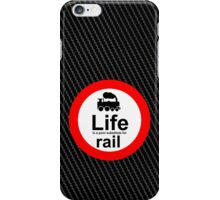 Rail v Life - Carbon Fibre Finish iPhone Case/Skin