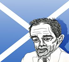 Alex Salmond Funny Cartoon Caricature 1 by Grant Wilson