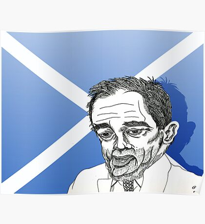 Alex Salmond Funny Cartoon Caricature 1 Poster