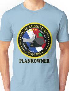 SSN-780 USS Missouri Plank Owner Crest Unisex T-Shirt
