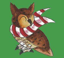 Cozy Christmas Owl Baby Tee
