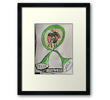 Kidneys ribbon awareness Framed Print