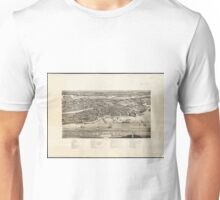 Vintage Pictorial Map of St. Augustine FL (1885) Unisex T-Shirt