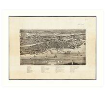 Vintage Pictorial Map of St. Augustine FL (1885) Art Print