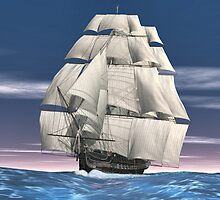 USS Constitution by Walter Colvin