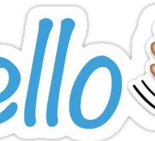hello and wave emoji Sticker