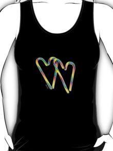 Rainbow candy cane hearts T-Shirt