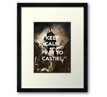 Keep Calm and Pray to Castiel Framed Print