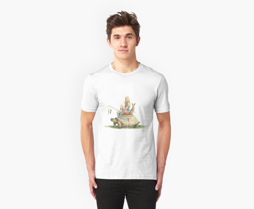 The Tortoise and the Hare, T-Shirt by Scot Howden
