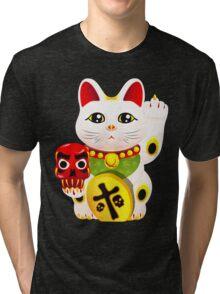 Maneki neko f u Tri-blend T-Shirt