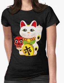 Maneki neko f u Womens Fitted T-Shirt