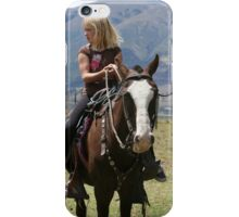 Young Blond Girl on a Horse iPhone Case/Skin