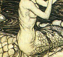 Victorian Mermaid Illustration Sticker