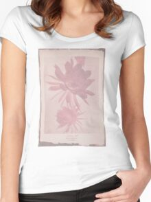 Doctor Who Flower Bloom t-shirt Women's Fitted Scoop T-Shirt