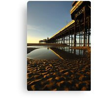 North Pier Reflections Canvas Print
