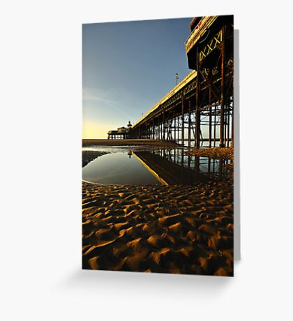 North Pier Reflections Greeting Card