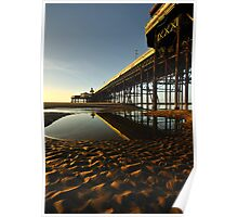 North Pier Reflections Poster