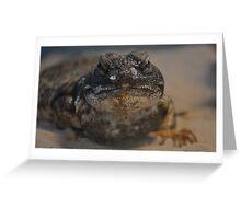 Uromastyx Lizard Greeting Card