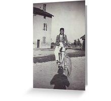 My mom bicycling 70 years ago...&-3500 visualizzaz.agosto 2013 --VETRINA RB EXPLORE 27 GENNAIO 2012 --- Greeting Card