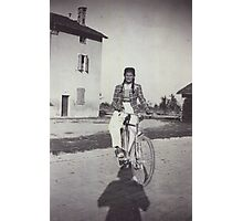 My mom bicycling 70 years ago...&-3500 visualizzaz.agosto 2013 --VETRINA RB EXPLORE 27 GENNAIO 2012 --- Photographic Print