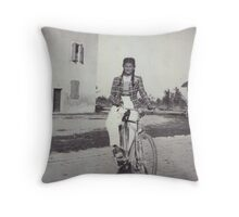 My mom bicycling 70 years ago...&-3500 visualizzaz.agosto 2013 --VETRINA RB EXPLORE 27 GENNAIO 2012 --- Throw Pillow
