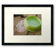 Made to measure ice Framed Print
