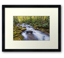 Oconaluftee Cascades - Great Smoky Mountains National Park, North Carolina Framed Print