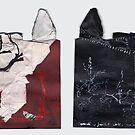 IDB-DF #12 L'ombre de ton arbre Paysage Collage de dessins déchirés 2011 by Pascale Baud