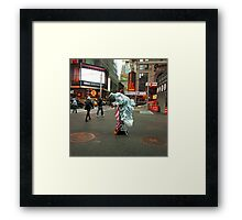 Sunset of an Age. The end of our Freedom. NYC Framed Print