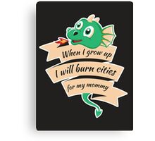When I Grow Up...  Canvas Print