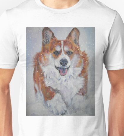 Pembroke Welsh Corgi Fine Art Painting Unisex T-Shirt