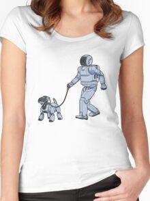 A Robot's Best Friend Women's Fitted Scoop T-Shirt