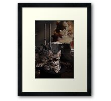 Steampunk Sid Kitten Overlord Framed Print