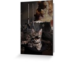 Steampunk Sid Kitten Overlord Greeting Card